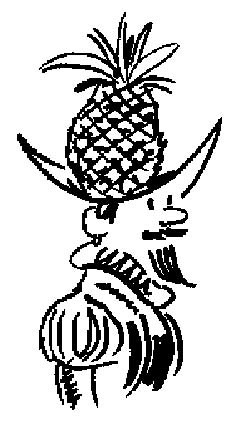 Pineapple man cartoon
