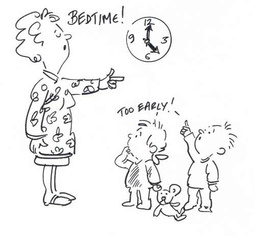 Bedtime - cartoon