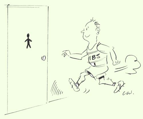Running to the loo