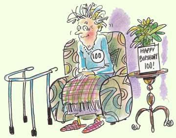 Cartoon - old lady