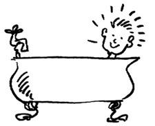 Kid in bath