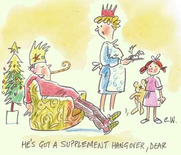 Cartoon Christmas hangover