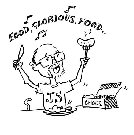 worms for food intolerance ASP Worm food glorious food cartoon