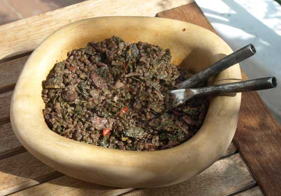 Puy lentil swith chorizo