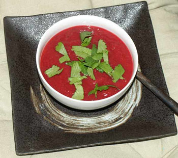 Beetroot and parnsip soup