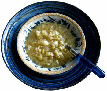 freefrom celery and anchovy soup