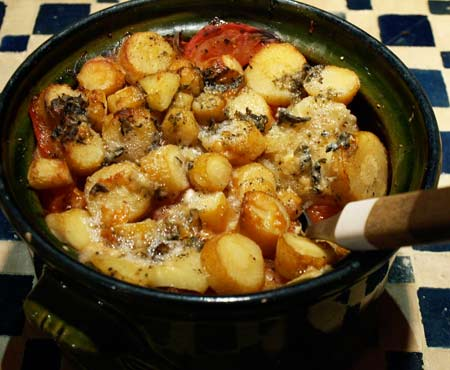 Baked Parsnips with Roquefort