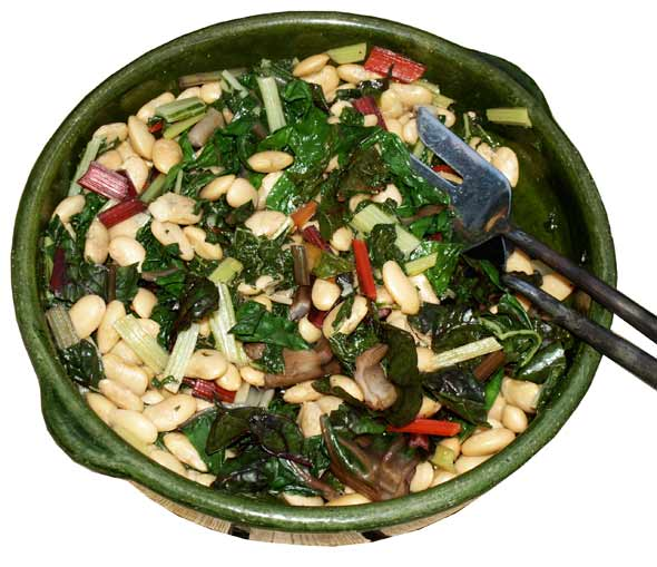 Butterbean and chard salad recipe