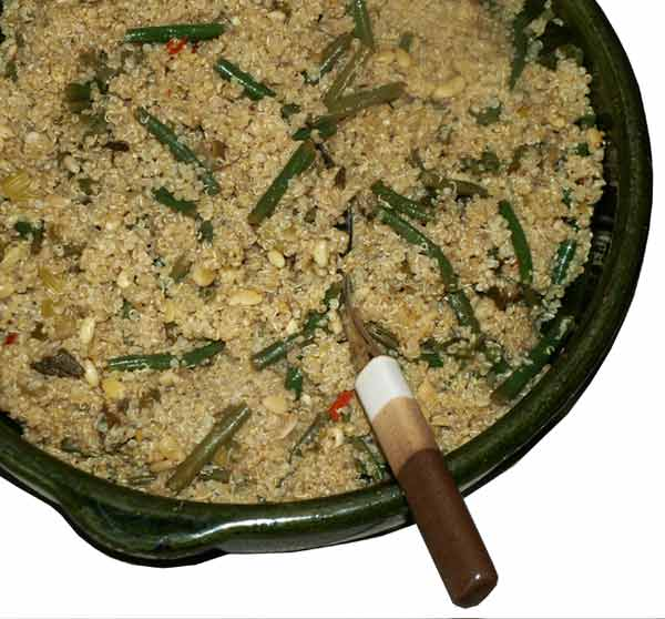 quinoa with green beans