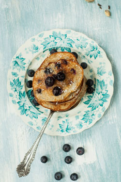 blueberry and cardamom pancakes