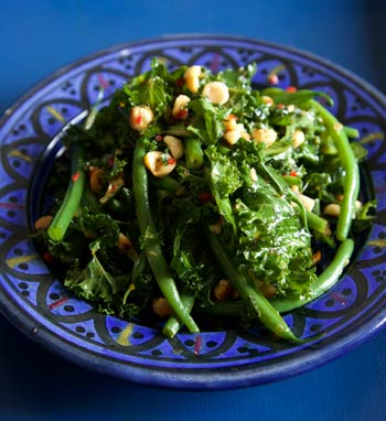 Raw Kale and French Bean Salad